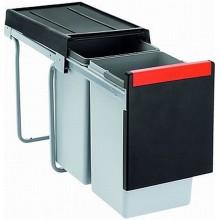 Franke sorter Cube 30 - 2x15 l 253x467x423 - ruční výsuv, 134.0039.553