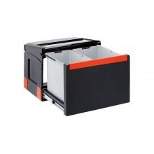 Franke sorter Cube 50 - 1x14 l,1x18 l 438x330x345 - ruční výsuv, 134.0055.289
