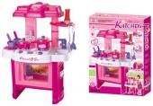 Dětská kuchyňka G21 s příslušenstvím růžová 690402