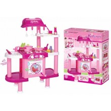 Dětská kuchyňka G21 s příslušenstvím růžová II. 690679