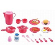 Hračka G21 Dětské nádobí plastové růžové 39ks 690722