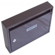 Schránka poštovní paneláková 325x240x60mm hnědá bez děr 63921671