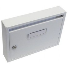 Schránka poštovní paneláková 325x240x60mm šedá bez děr 63921673