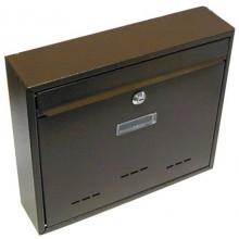 Schránka poštovní RADIM velká 310x360x90mm hnědá 6392164