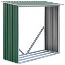 G21 WOH 136 Přístřešek na dřevo 182 x 75 cm, zelený 63900491