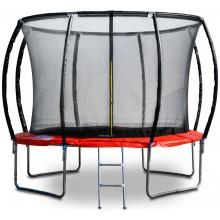 G21 Trampolína SpaceJump, 305 cm, červená, s ochrannou sítí + schůdky zdarma 69042680