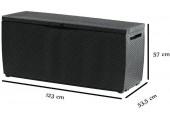 KETER CAPRI 305L zahradní úložný box 123 x 53,5 x 57 cm, antracit 17201486