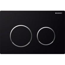 Geberit Omega20 Ovládací tlačítko, černá, leskle pochromované 115.085.KM.1