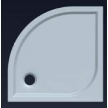 GELCO Q9 Semi 90 čtvrtkruhová sprchová vanička 90x90 HQ559R