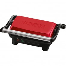 SENCOR SBG 2052RD elektrický gril kontaktní, červený 41003410