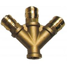"""GÜDE rozdělovač tlakového vzduch, 3-cestný, 3/8"""" vnitřní závit 41138"""