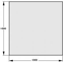 HAAS+SOHN Sklo pod kamna 1000x1000, formát A 1115410200000