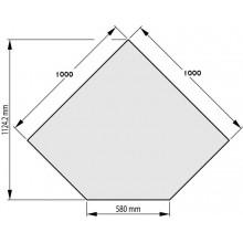 HAAS+SOHN Sklo pod kamna 1000/1000/580-45° mm, formát B 1115510200000