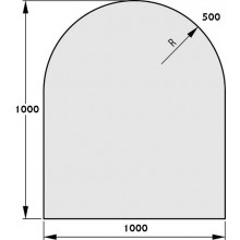 HAAS+SOHN Sklo pod kamna 1000/1000,R500 mm, formát C 1115910200000