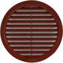 HACO Větrací mřížka kruhová se síťovinou VM 150 H hnědá 0402