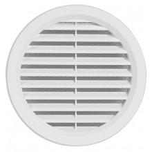 Haco větrací mřížka kruhová se síťovinou VM 125 B plast, bílá 0405