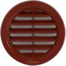 HACO větrací mřížka kruhová se síťovinou VM 75 H plast, hnědá 0412