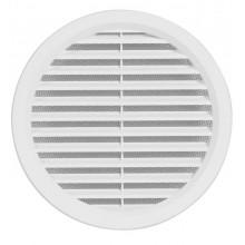 HACO větrací mřížka kruhová se síťovinou VM 150 B plast, bílá 0401