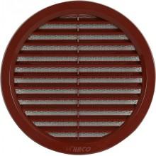 HACO větrací mřížka kruhová se síťovinou VM 140 H plast, hnědá 0404