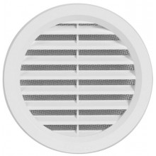HACO větrací mřížka kruhová se síťovinou VM 110 B plast, bílá 0407