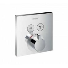 Hansgrohe Shower Select Termostat pod omítku pro 2 spotřebiče, chrom 15763000