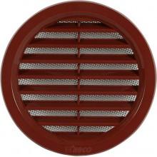 HACO větrací mřížka kruhová se síťovinou VM 110 H plast, hnědá 0408