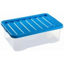 HEIDRUN Box úložný Quasar, 32 x 20 x 10 cm, 4 l, transparentní/modrá 1680Q