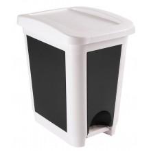 HEIDRUN Odpadkový koš pedálový, 45 x 29,5 x 40 cm, 30 l, bílá 1494