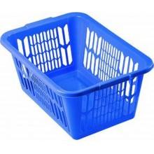 HEIDRUN Koš na čisté prádlo 25,5 x 59 x 39 cm, modrá 5077
