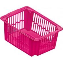 HEIDRUN Košíček, 16,5 x 38,5 x 28 cm 14 l, růžový 5096