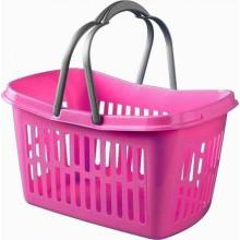HEIDRUN TWILLIE nákupní košík 22 x 40 x 30 cm růžový 1103