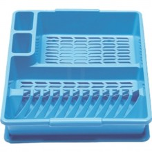 HEIDRUN Odkapávač s podnosem velký, 10,5 x 47 x 39 cm, modrá
