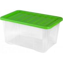 HEIDRUN Box úložný Quasar, 18 x 43 x 33 cm, 18 l, zelená 682Q