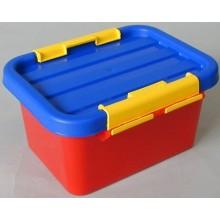HEIDRUN Box úložný s víkem KIDS 3 l, modrá/červená/žlutá, 1601/K