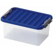 VÝPRODEJ HEIDRUN Box úložný s víkem, 16 x 34 x 23 cm, 8 l, transparentní, 602, BEZ VÍKA
