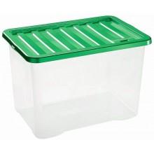 HEIDRUN Box úložný Quasar, 28 x 38 x 28,5 cm, 22 l, víko zelené1624z