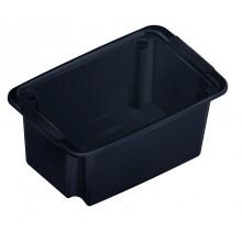 HEIDRUN Multibox 12,5 x 29,5 x 19 cm, 5 l, černá, 5101