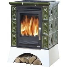 ABX Helvetia K TV výměník 6,9 kW, kachlová kamna na dřevo (litina/plech), zelená