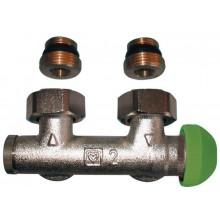 HERZ TS-3000 šroubení s termostatickým ventilem M 28x1,5 rohové, bez přednastavení 1369379