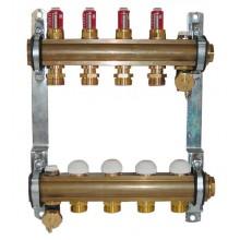 HERZ Sada rozdělovač/sběrač pro podlahové vytápění s průtokoměrem 8-okruhový 1853208