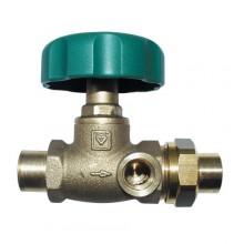 HERZ Uzavírací ventil přímý + pájecí nátrubek, DN 15, průměr trubky 15 mm, 2421501
