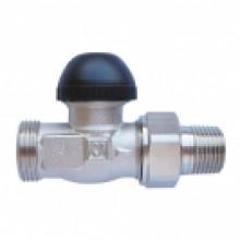 """HERZ TS-90-H-Termostatický ventil M30x1,5 přímý 1/2"""", černá krytka 1773326"""