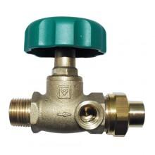 HERZ Uzavírací ventil přímý, DN 20, vnější závit x vnější závit + nátrubek, 2421522