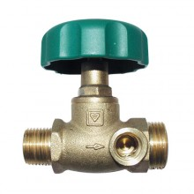 HERZ Uzavírací ventil přímý, DN 15, vnější závit x vnější závit, 2421520