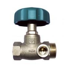 HERZ Uzavírací ventil přímý, DN 15, vnitřní závit x vnější závit , 2421510