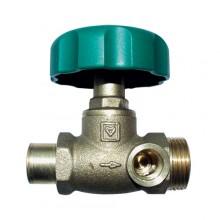 HERZ Uzavírací ventil přímý, DN 15, průměr trubky 15 mm, 2421500