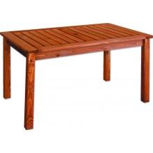 Zahradní stůl HOLIDAY 130x77x76cm, borovice mořená 10612