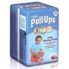 HUGGIES Pull Ups Large Dětské plenky - Boys (14 ks) 11-18 kg 147837 PO EXPIRACI