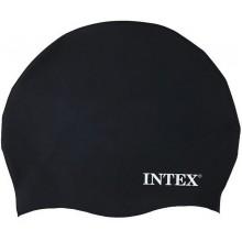 INTEX Silikonová plavecká čepice, černá, věk 8+ 55991