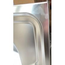 VÝPRODEJ NOVASERVIS kuchyňský dřez celoplošný 60 x 80 x 15 cm nerez, pravý DR60/80 POŠKOZENÝ ROH!!